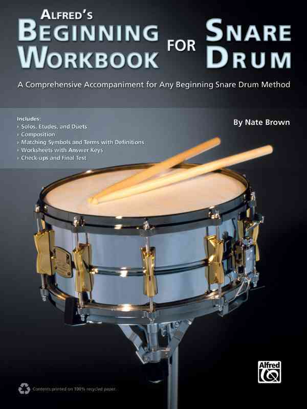 Alfred's Beginning Workbook for Snare Drum By Brown, Nate